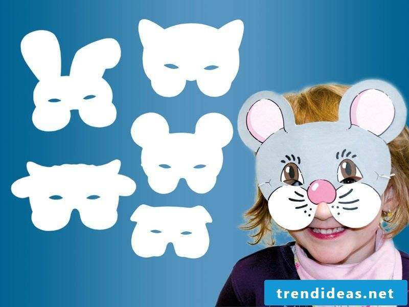 Animal masks make in the shape of a sweet mouse