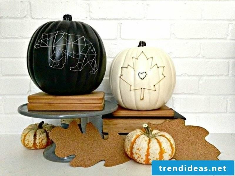 Autumn decor patio pumpkins