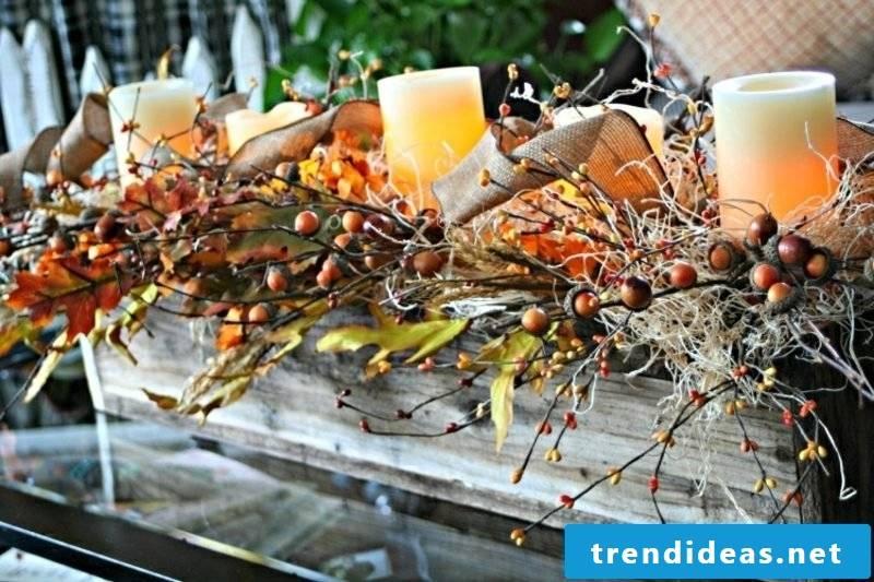 Autumn decoration table wonderful look