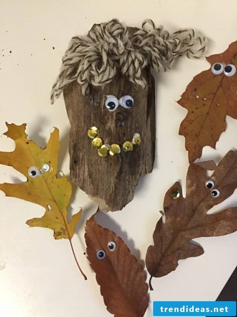 Fall decoration tinker with the children