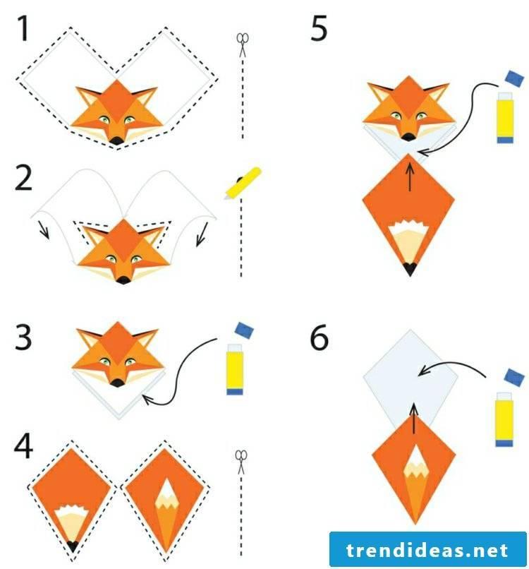 Bookmark tinker template fox