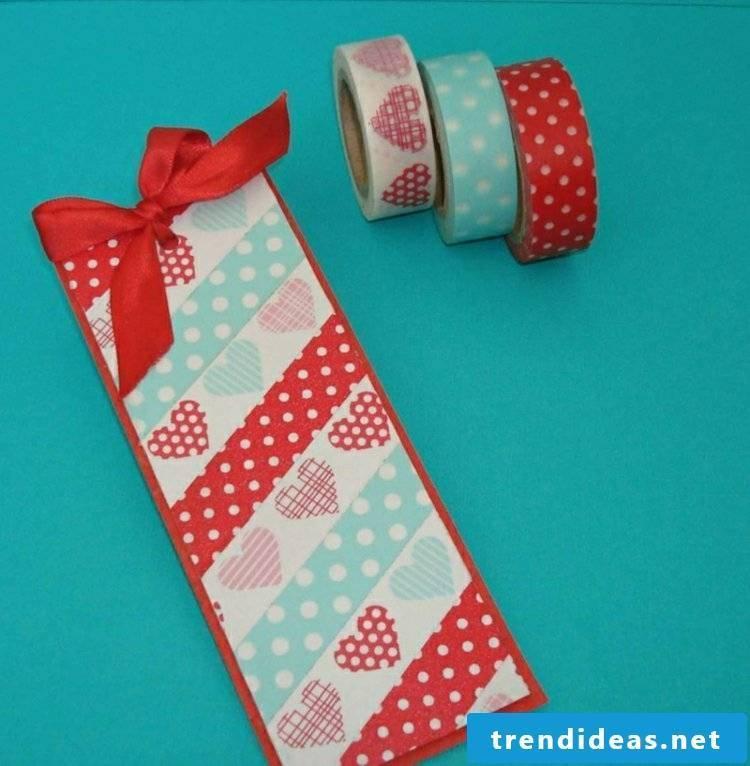 Making and decorating bookmarks Washi Tape