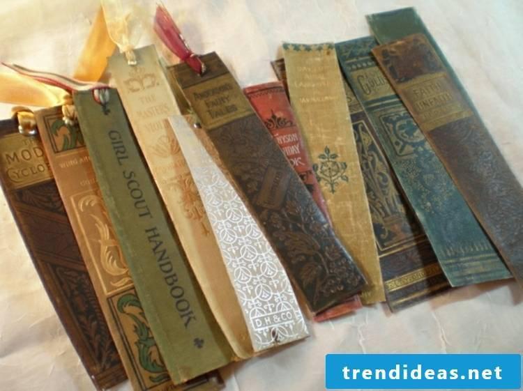 Bookmarks make simple DIY ideas