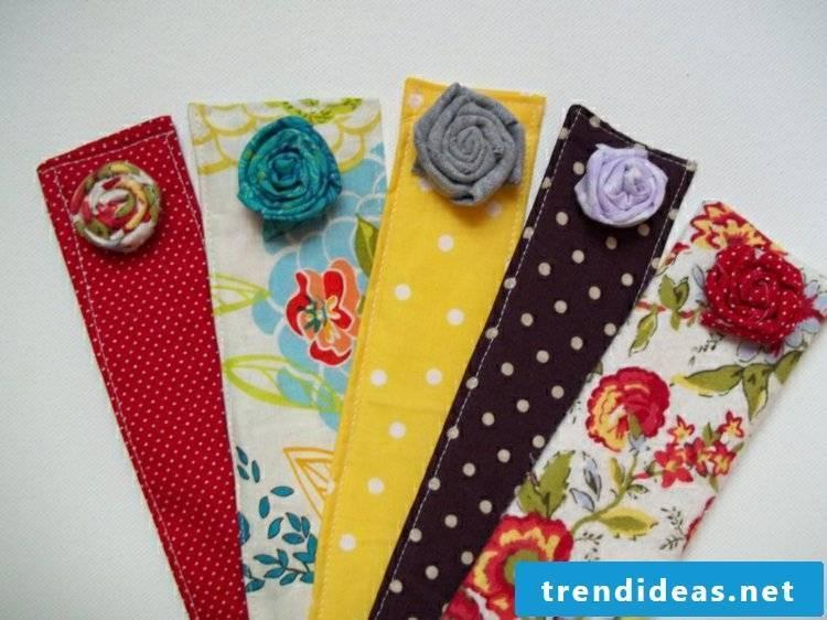Bookmark made of felt fabric