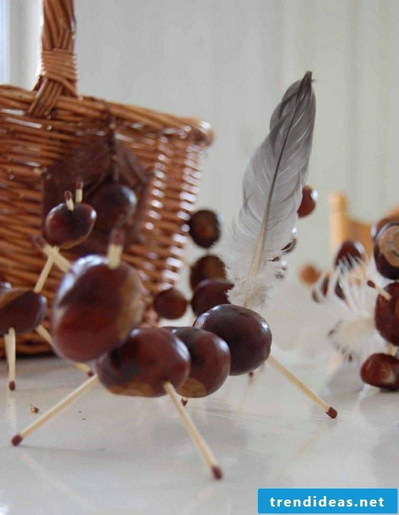 Chestnuts tinker animals funny DIY