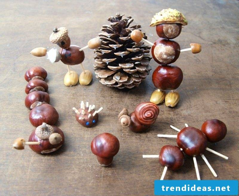 with chestnuts make impressive table decoration autumn