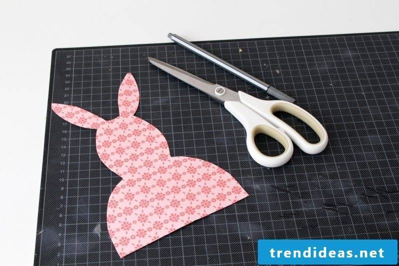 Easter cards already cut off are ready for decoration and write down wishes