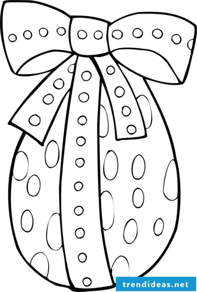 Easter cards print template for crafting in the form of egg