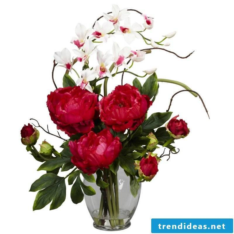 floral arrangements-red-white