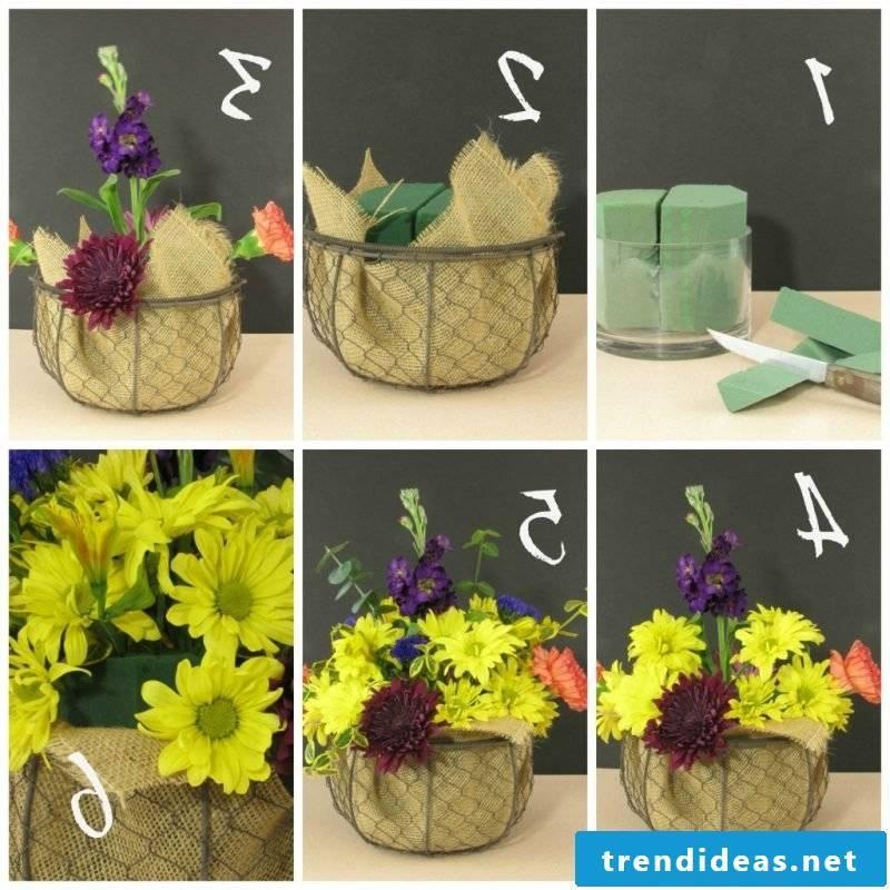 floral arrangements-steps