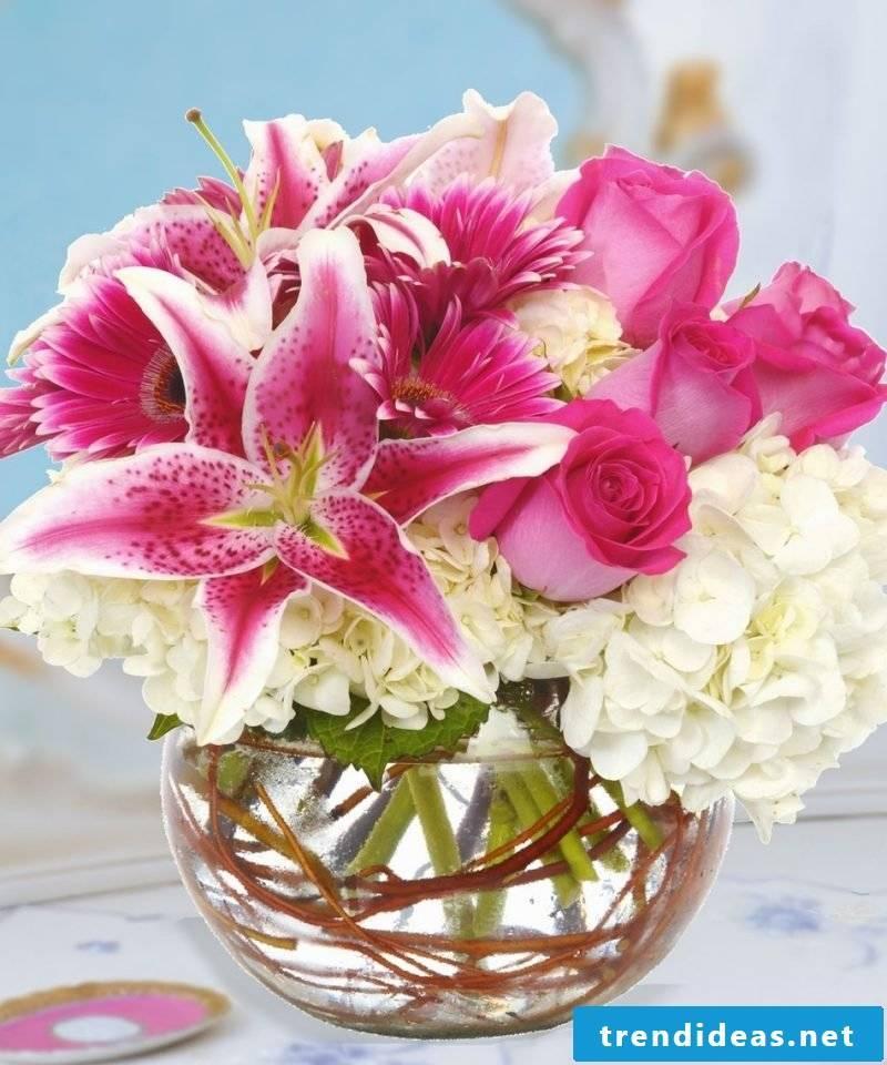 Flower arrangements Rose White