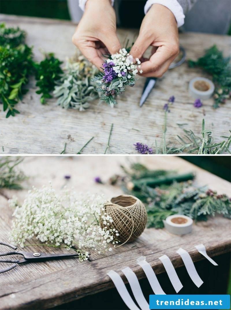 Floral arrangements DIY steps