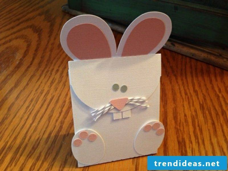 Make gift bags out of paper Make Easter bunnies
