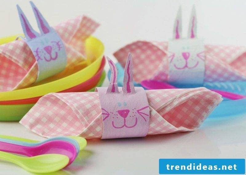 funny easter bunny napkin rings