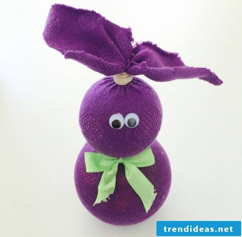 Make Easter bunnies out of old socks