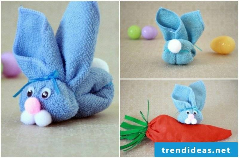 make funny Easter bunnies yourself