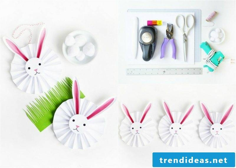 original Easter Bunny made of paper creative craft ideas
