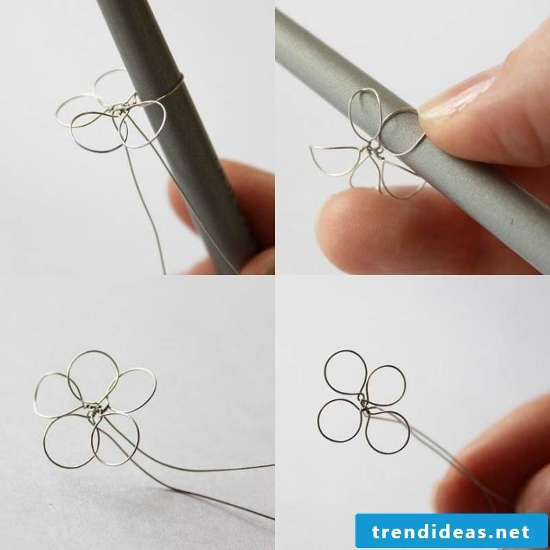 Jewelry flowers made of wire crafting instructions