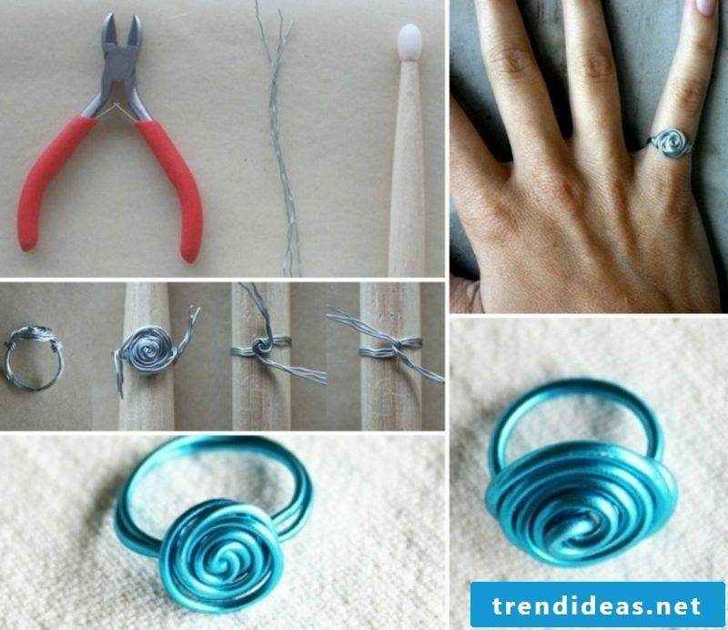 Crafting ideas Jewelry Rng made of wire