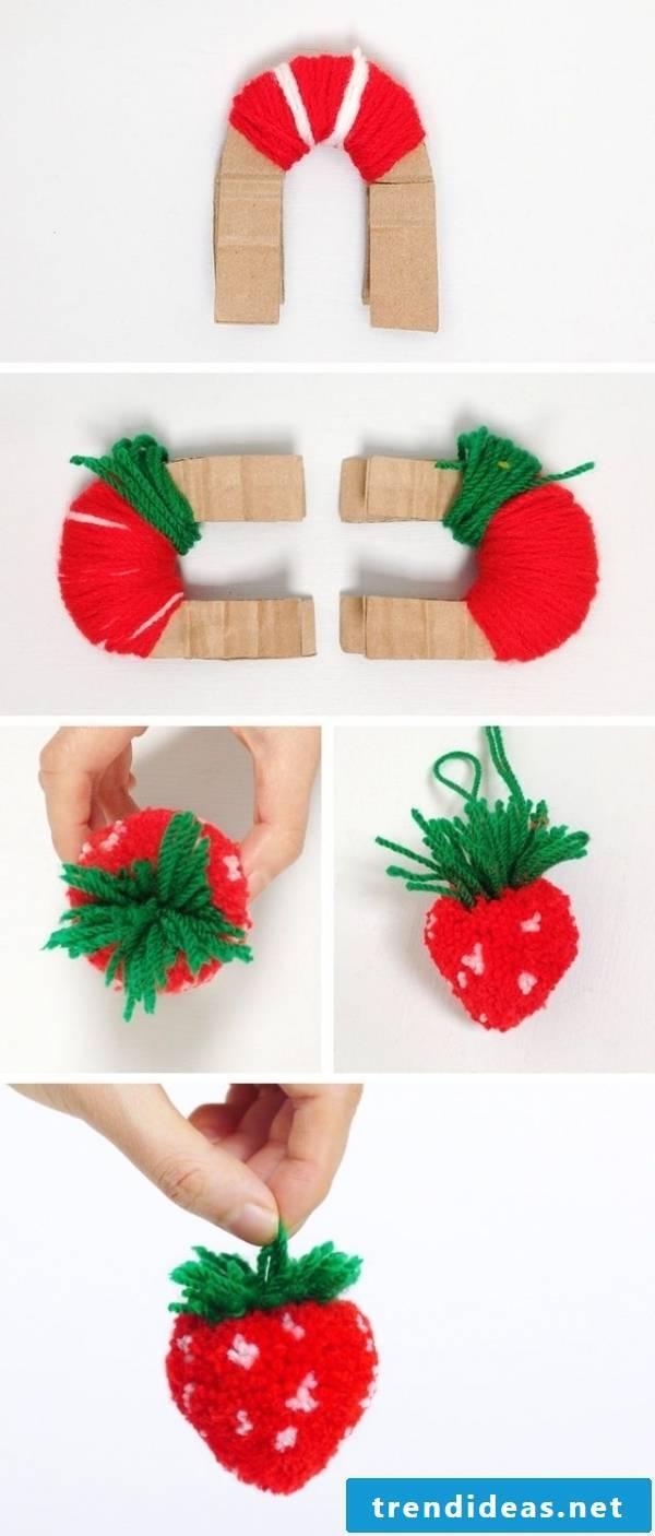 Pompom strawberry sweet to bite