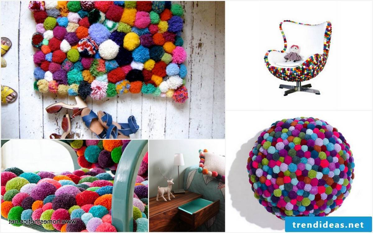 Fancy furniture designs with pompoms