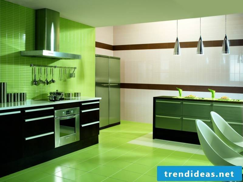 Marazzi kitchen tiles green