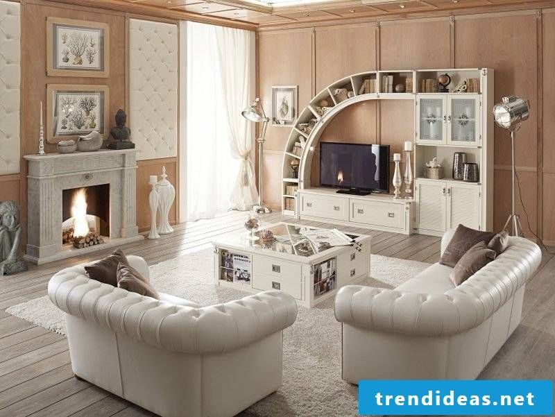 Living room design maritime furniture