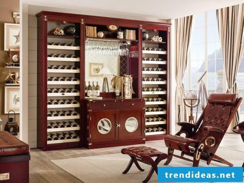 maritime furniture wine racks