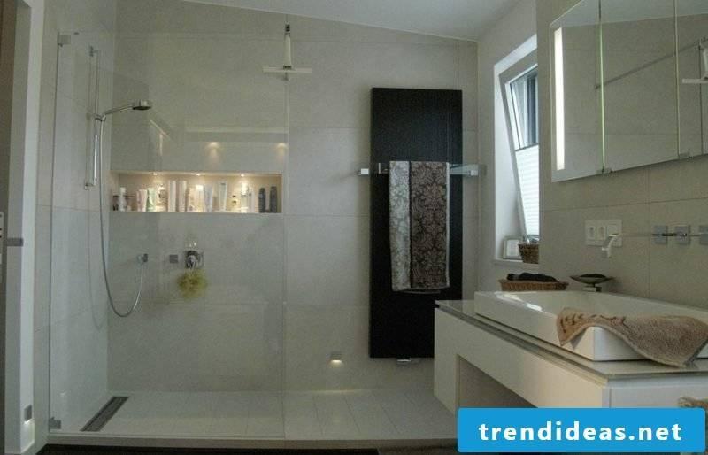 Shower bricked bathroom design