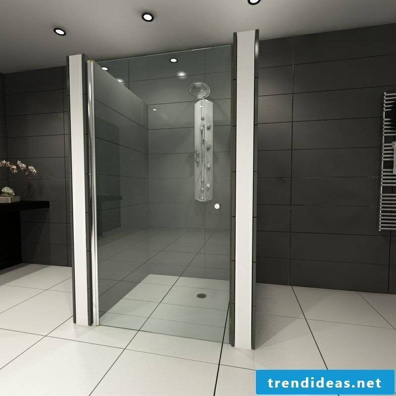 Shower cabin glass brick shower
