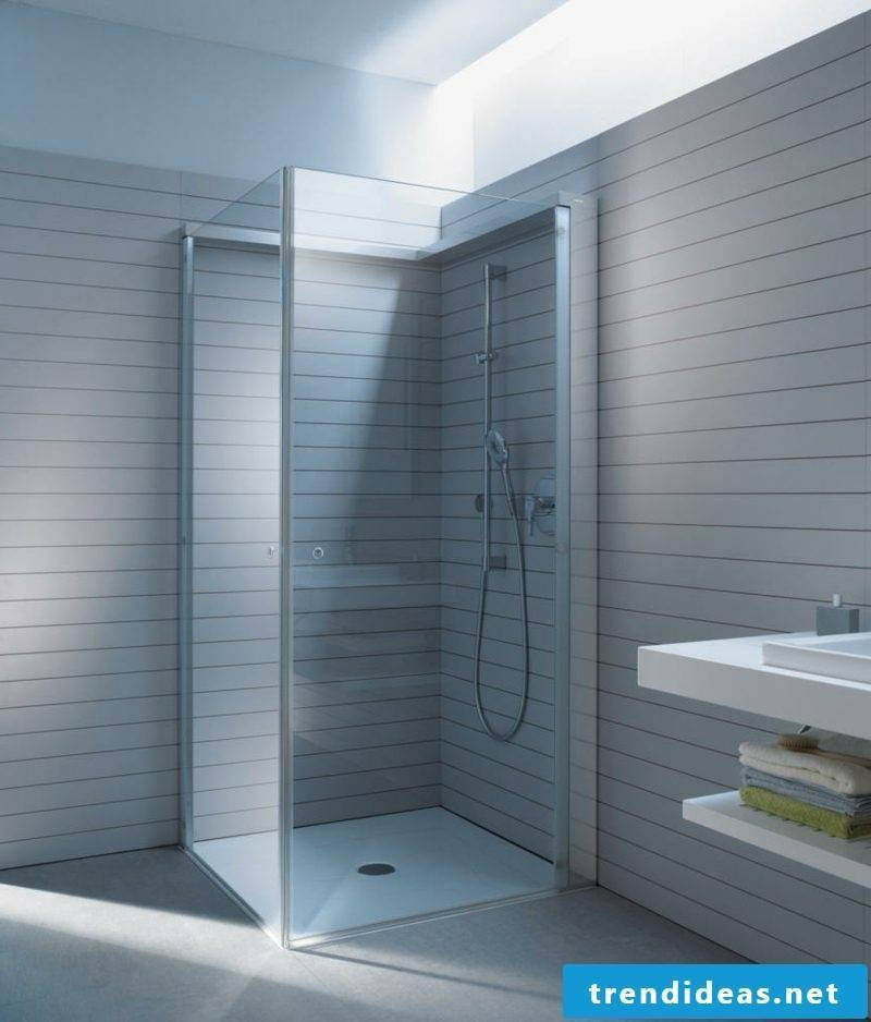 Creative design ideas bathroom brick shower glass shower cubicle