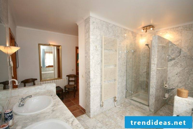 Bathroom modern brick shower