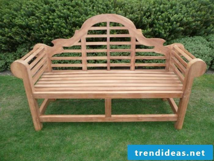 massive-garden furniture-bench-of-wood-retro style