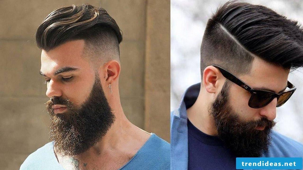 Beard and hair in harmony