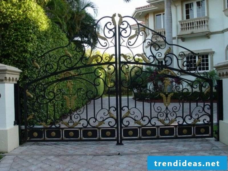 Metal garden gates wrought exterior