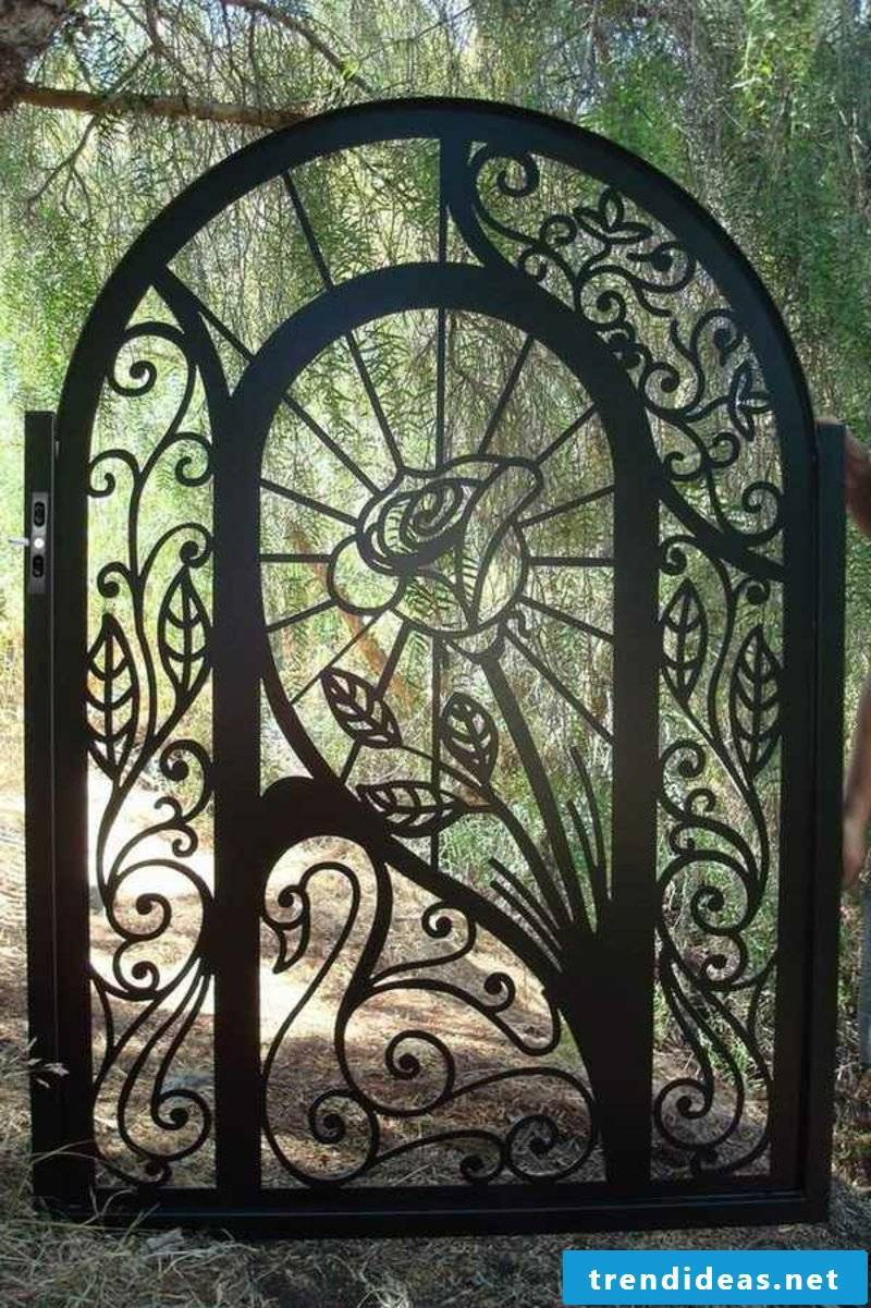 Metal garden gates exquisite wrought iron garden rose
