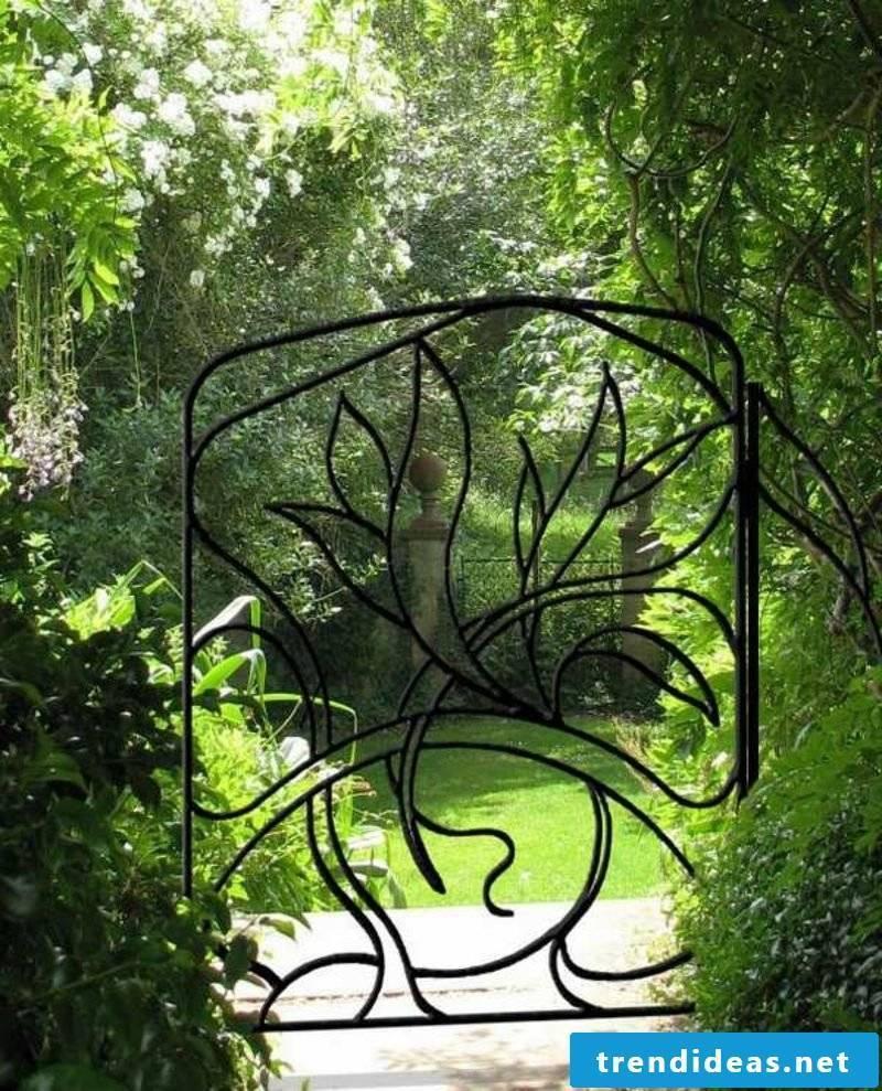 Metal garden gates wrough gate flower decorating