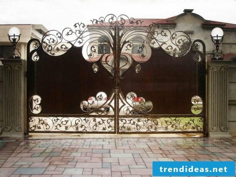 Garden gate metal gates wrought