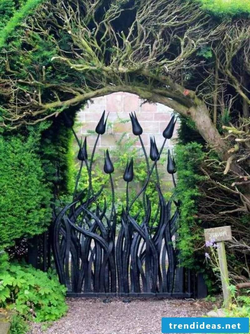 Garden gate metal unique wrought