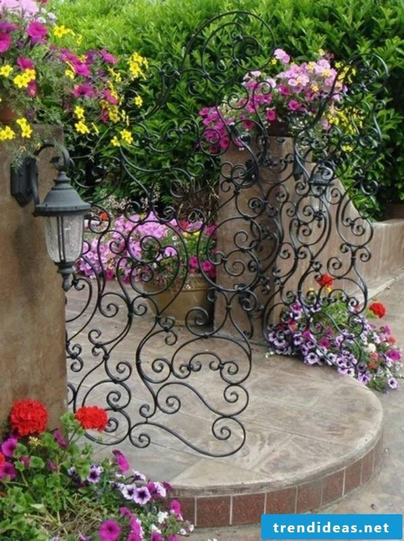 Metal garden gates unique wrought ornaments