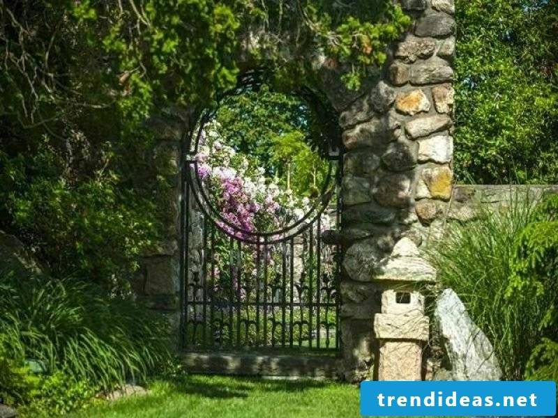 Metal garden gates Country house landscaping