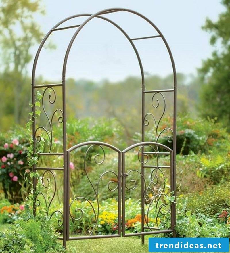 Metal garden gates standalone wrought iron garden