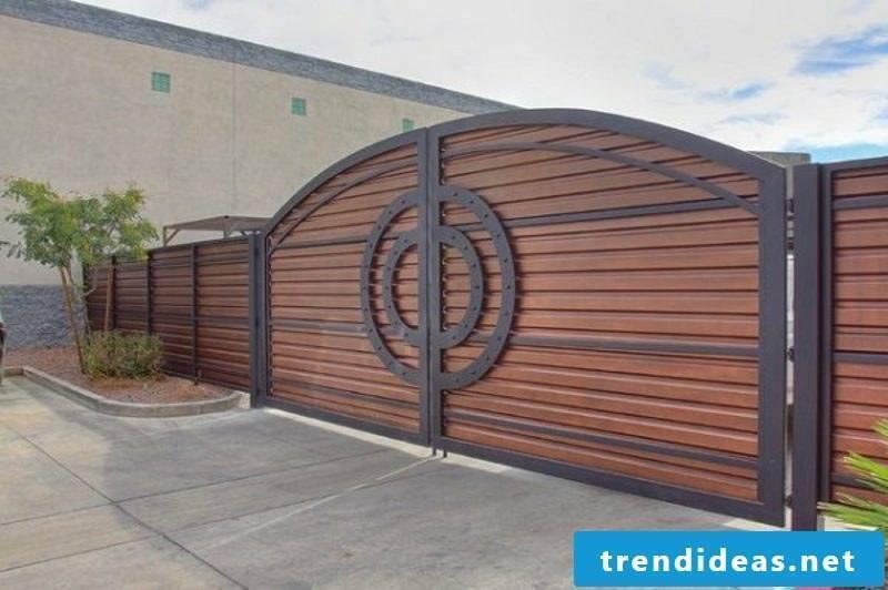 Metal garden gates modern exterior