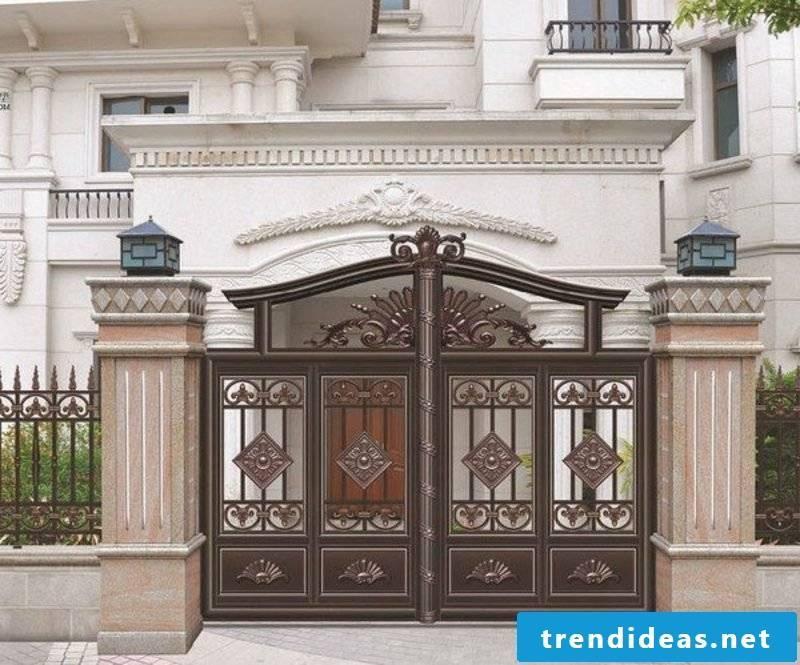 Metal garden gates wrought