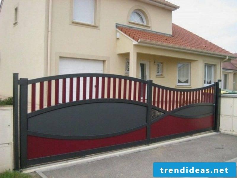 Metal garden gates modern gates sliding black red