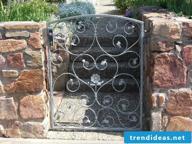 Metal garden gates galvanized