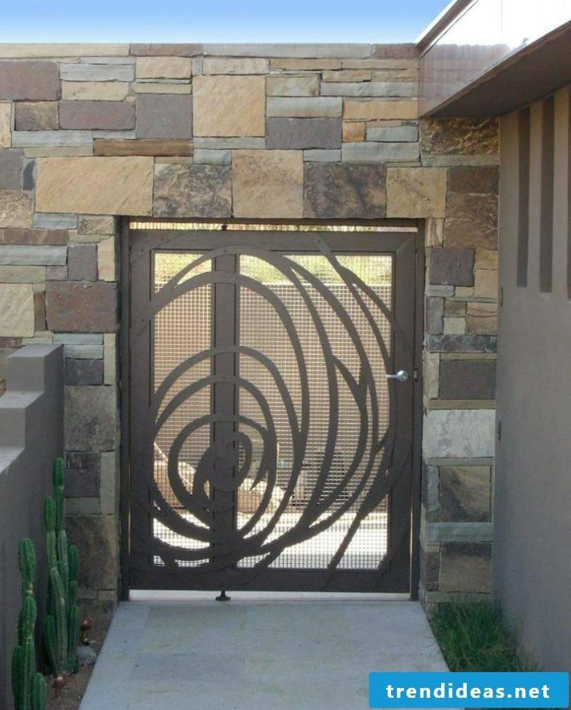 Metal garden gates garden gate