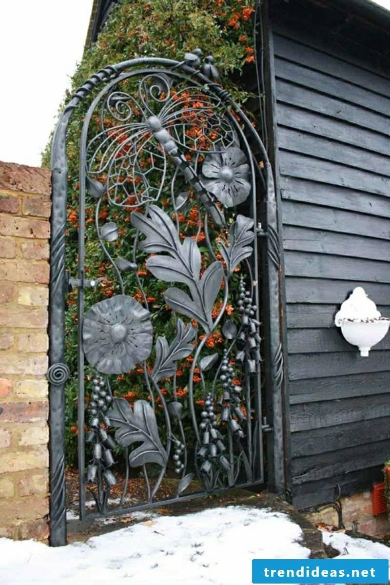 Metal garden gates garden doors wrought iron black