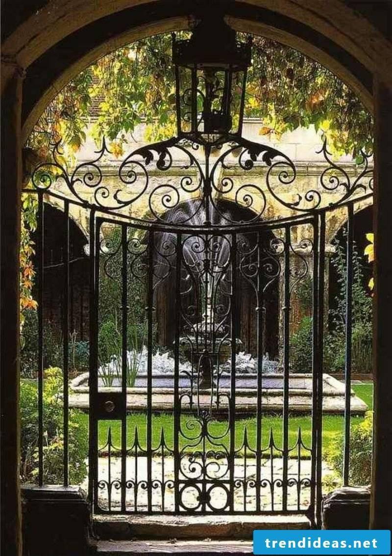 Metal garden gates wrought iron