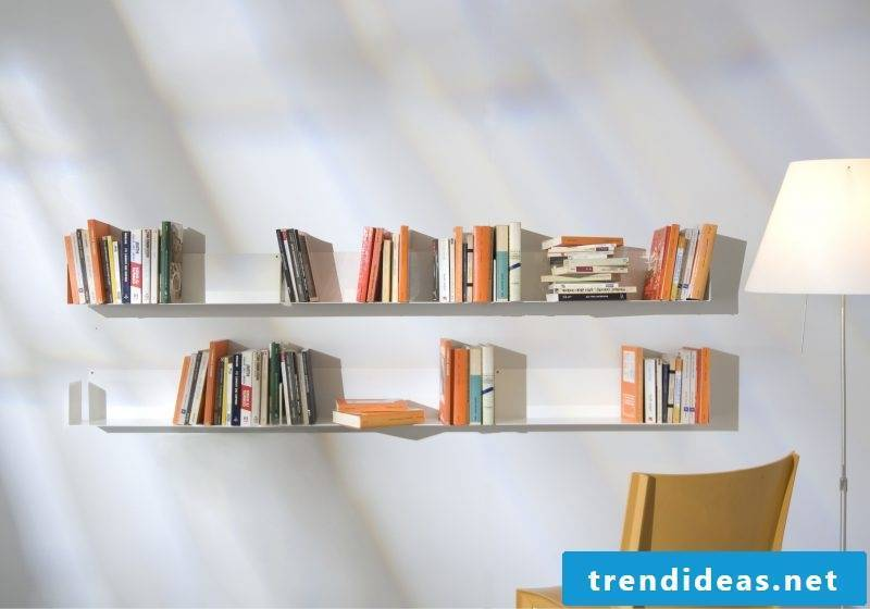 White metal shelf